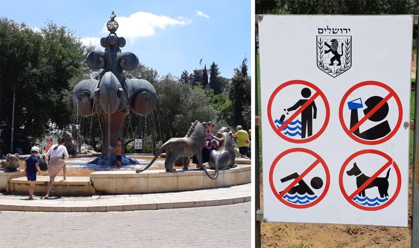 המזרקה מול גן הפעמון: סכנה בריאותית לילדים
