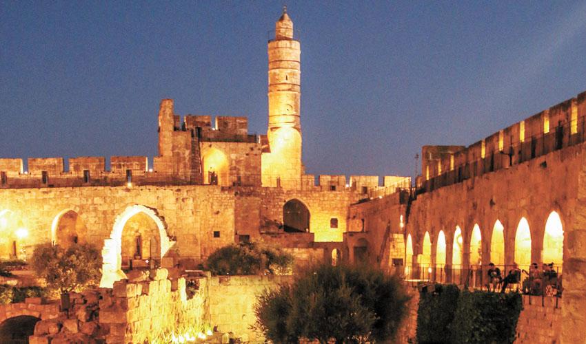 תשעה באב במוזיאון מגדל דוד (צילום: ריקי רחמן)