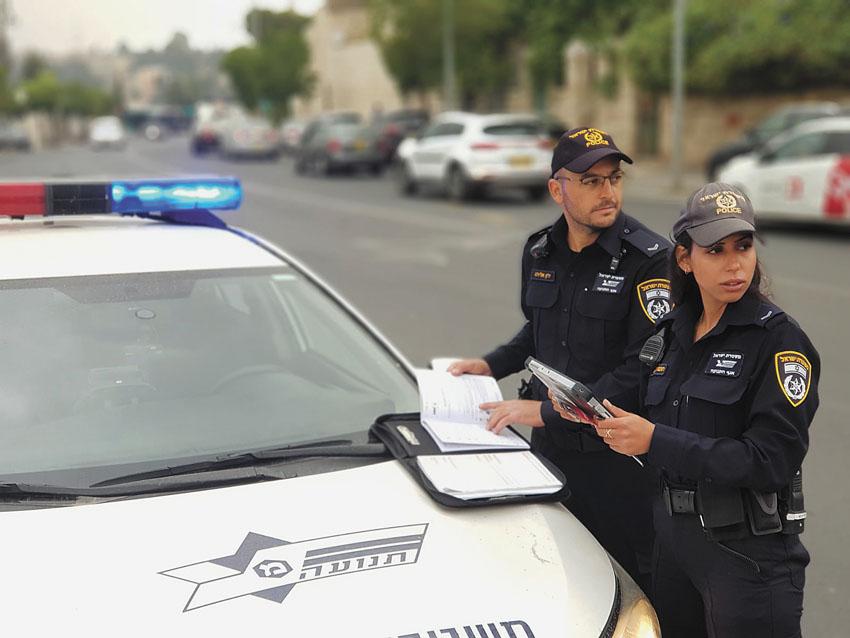 פעילות של יחידת התנועה בירושלים (צילום: דוברות המשטרה)