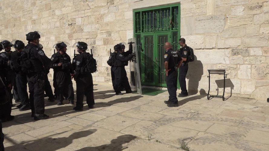 ההתפרעויות בהר הבית (צילום: דוברות המשטרה)