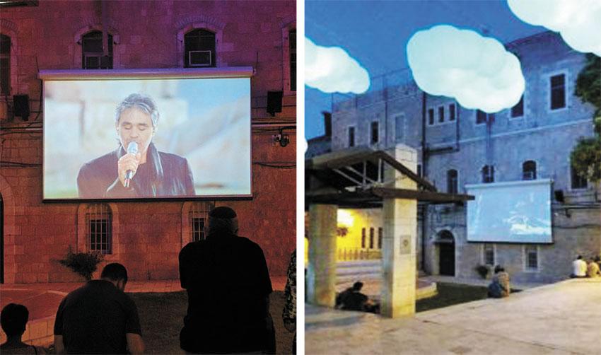 הקרנת סרטים בכיכר הירח (צילומים: נדב-בן אוד)