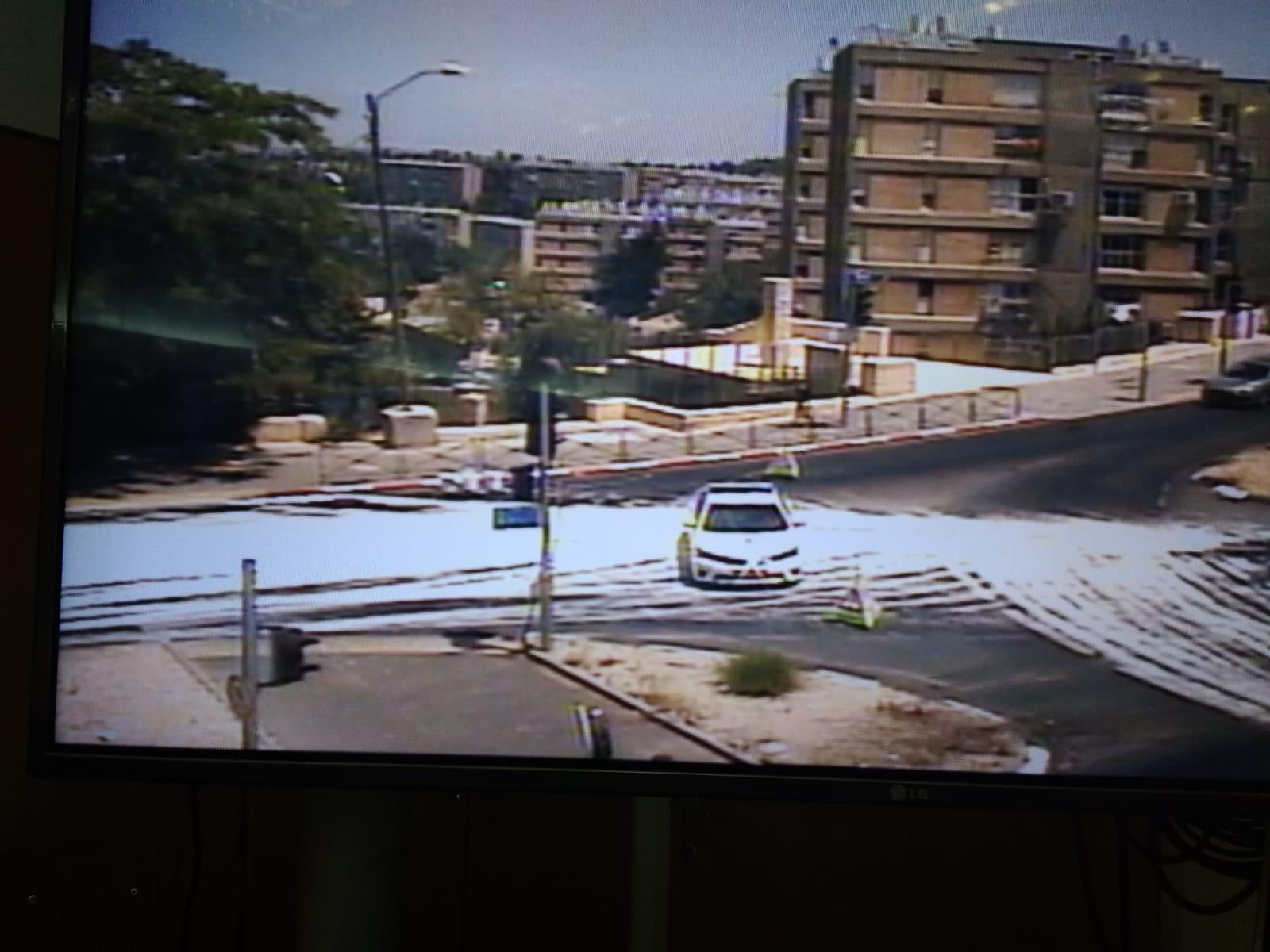 צומת המפלצת (צילום: דוברות המשטרה)