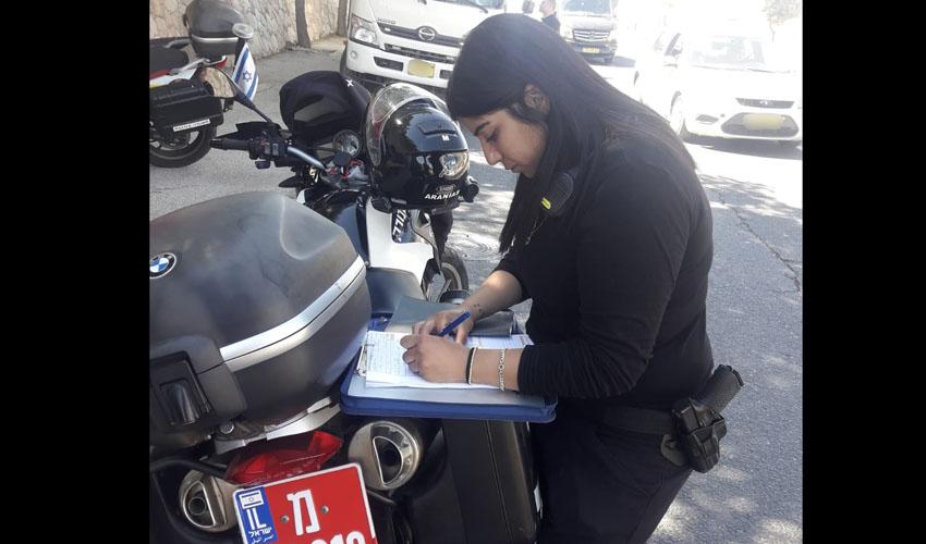 מבצע לבדיקת רכבים כבדים בירושלים (צילום: דוברות המשטרה)