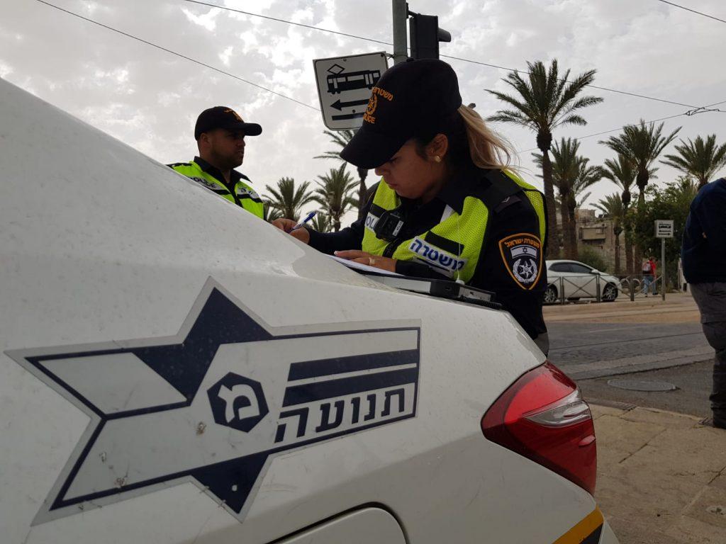 """מתוך מבצע האכיפה של שוטרי התנועה בסופ""""ש האחרון (צילום: דוברות המשטרה)"""