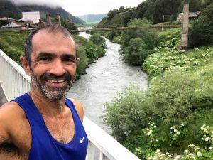 גיא שפירא, רץ בגיאורגיה היפה (צילום: גיא שפירא)