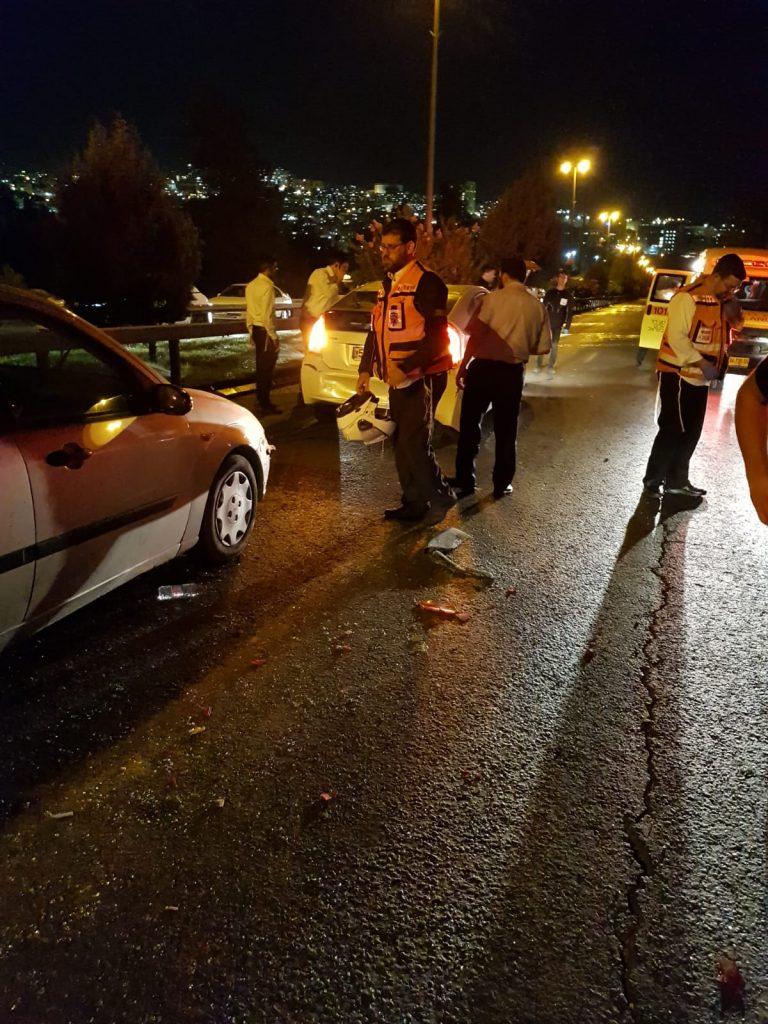 זירת התאונה בכביש 9 (צילום: דוברות איחוד הצלה)