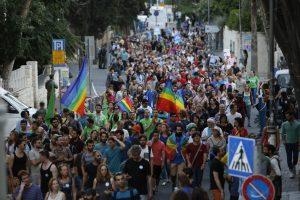 מצעד הגאווה בירושלים (צילום: אורן בן-חקון)