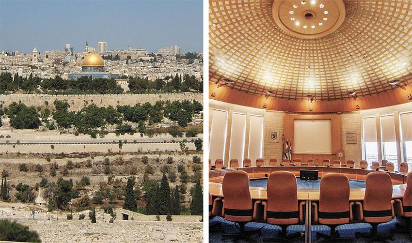 אולם מועצת העירייה, העיר העתיקה (צילומים: טל הרדה, ישראל קרול, מתוך ויקיפדיה)