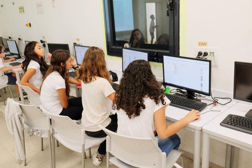 כיתת מחשב (צילום: ניר קידר)