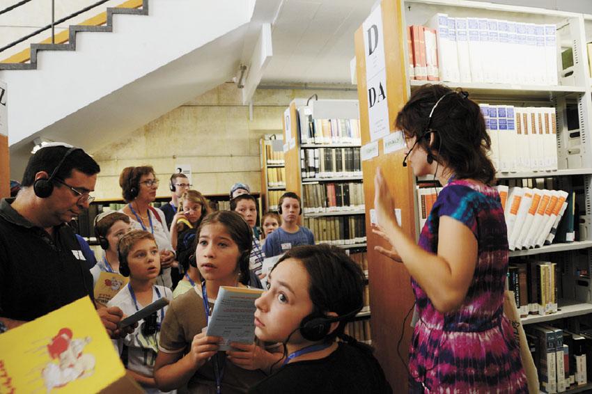 """פעילות ילדים בספרייה הלאומית (צילום: יח""""צ)"""