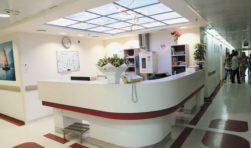 מחלקת האשפוז - חניכת מחלקת האשפוז המשודרגת במכון האונקולוגי (צילומים שלומי כהן)