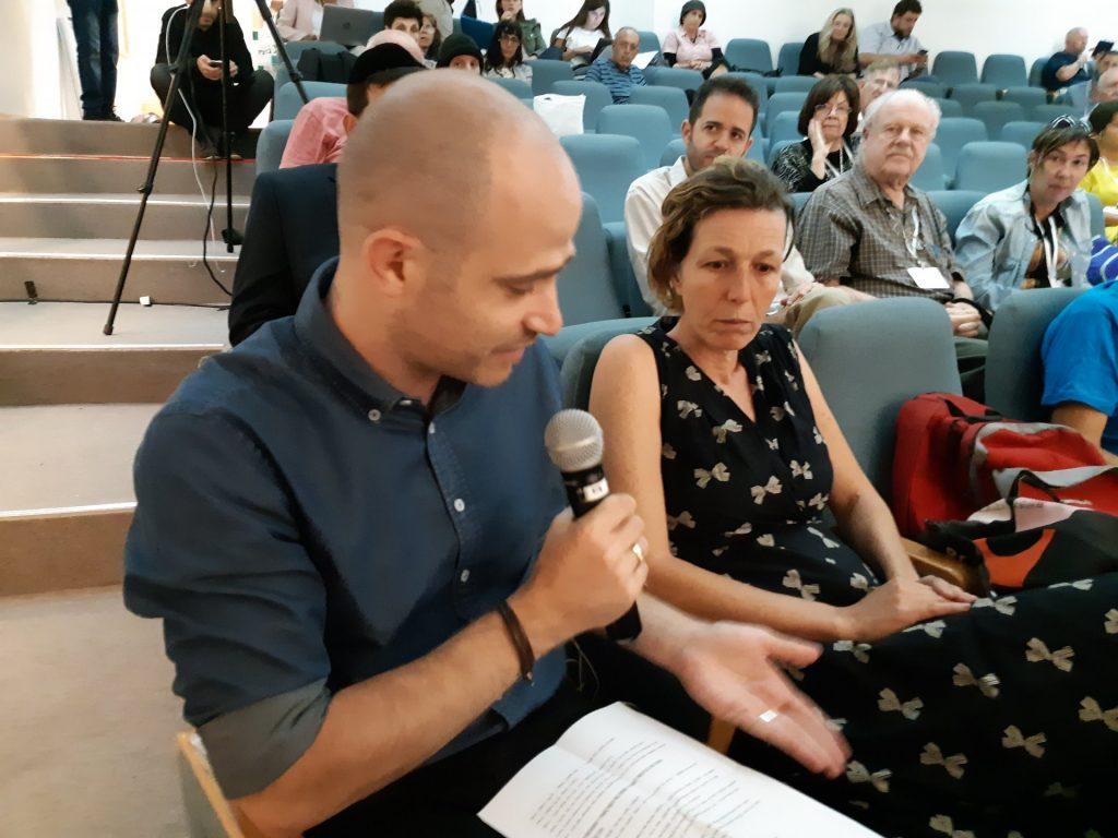 לילך רובין ועמית אהרנסון (צילום: שלומי כהן)