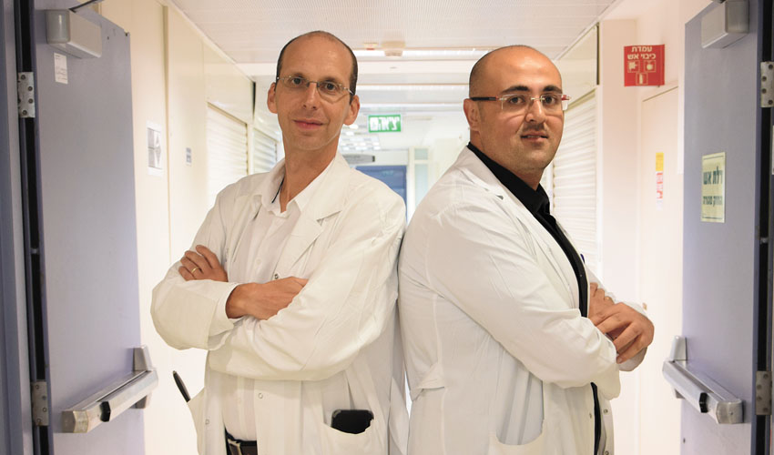 """ד""""ר רוני אייכל וד""""ר חוראני ניזאר (צילום: דוברות שערי צדק)"""