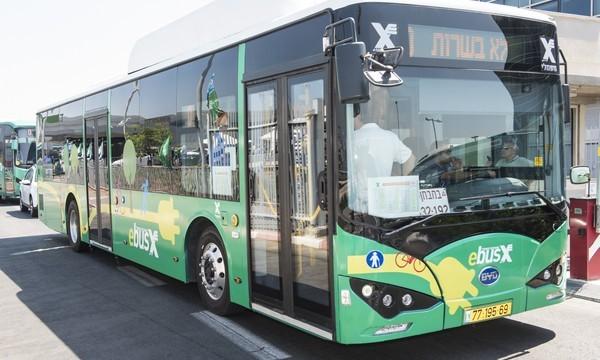 האוטובוסים החשמליים של אגד (צילום: אגד)