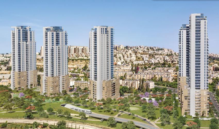 פרויקט המגדלים ברחוב בר יוחאי (הדמיה: קדמת היובל - מומחים בהתחדשות עירונית, אבנר דרורי אדריכלים, דלה פרגולה אדריכלים)