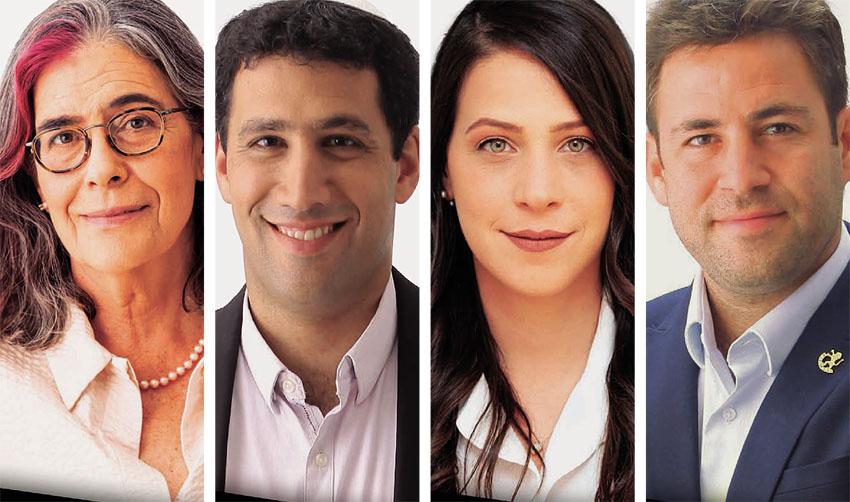 עופר ברקוביץ, עינב ב-כהן, אלעד מלכה, עליזה ארנס (צילומים: ראובן קפוצ'ינסקי)