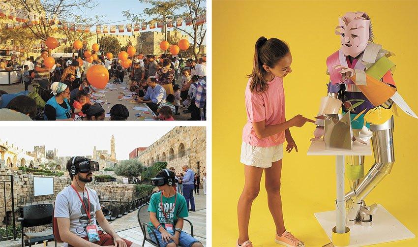 פעילות סוכות במוזיאון מגדל דוד, יריד יוצרים למען הקהילה (צילומים: משה נייס, עודד אנטמן, Ricky Rachman)