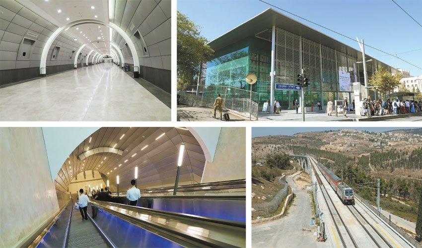 """הרכבת המהירה ירושלים-ת""""א ותחנת האומה, השבוע (צילום: שלומי כהן)"""