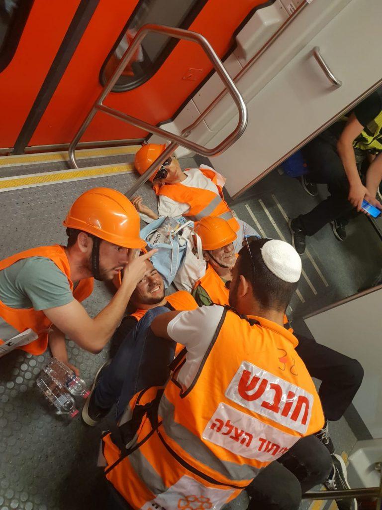 תרגיל במנהרות הרכבת (צילום: דוברות איחוד הצלה)