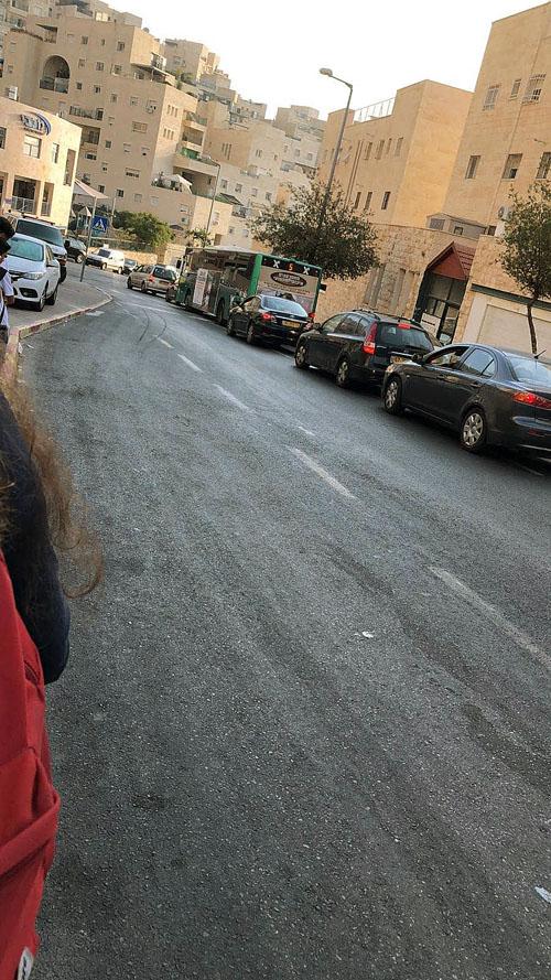 פקקים בהר חומה (צילום: בתיה חפצדי)