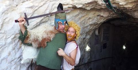 דוד וגוליית בראש הנקרה (צילום: ליאת לוי הכהן)