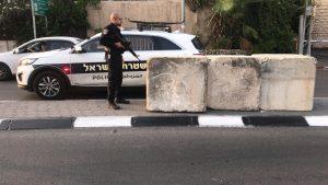 מחסום משטרתי (צילום: דוברות המשטרה)