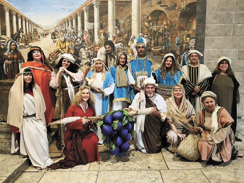 """לחיות את התנ""""ך ברובע היהודי (צילום: טל מרום)"""