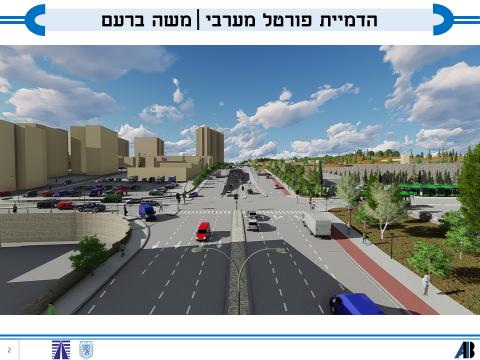 רחוב משה ברעם (הדמיה: חברת דגן פתרונות ויזואליים)