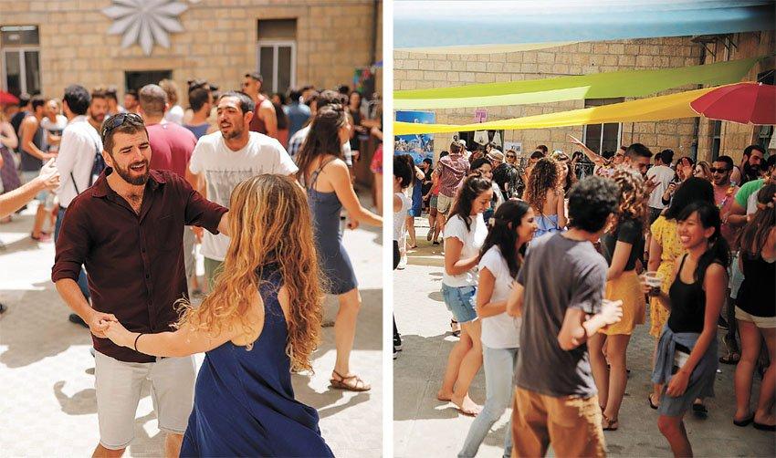 מסיבת סטודנטים במגדל דוד (צילומים: ריקי רחמן)