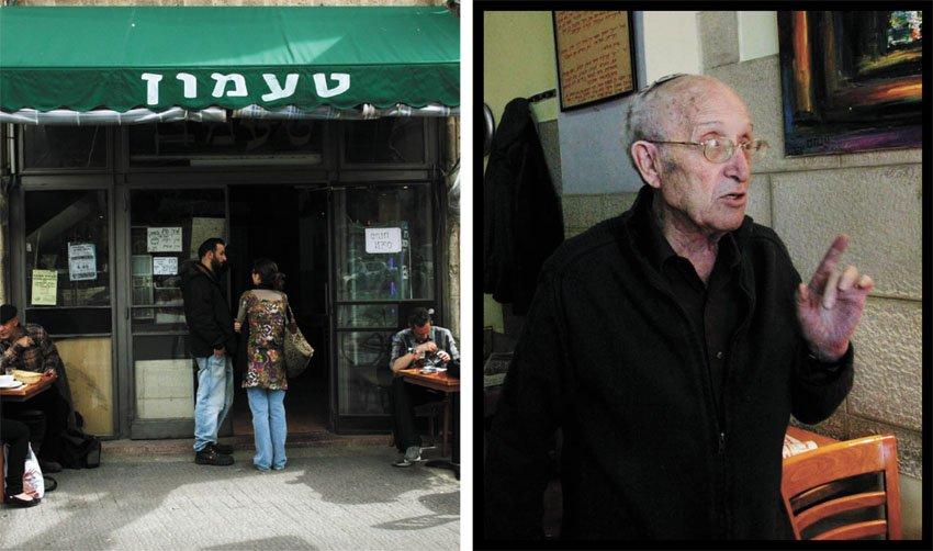 """מרדכי קופ ז""""ל, קפה טעמון (צילומים: דניאל בר און ג'יני)"""