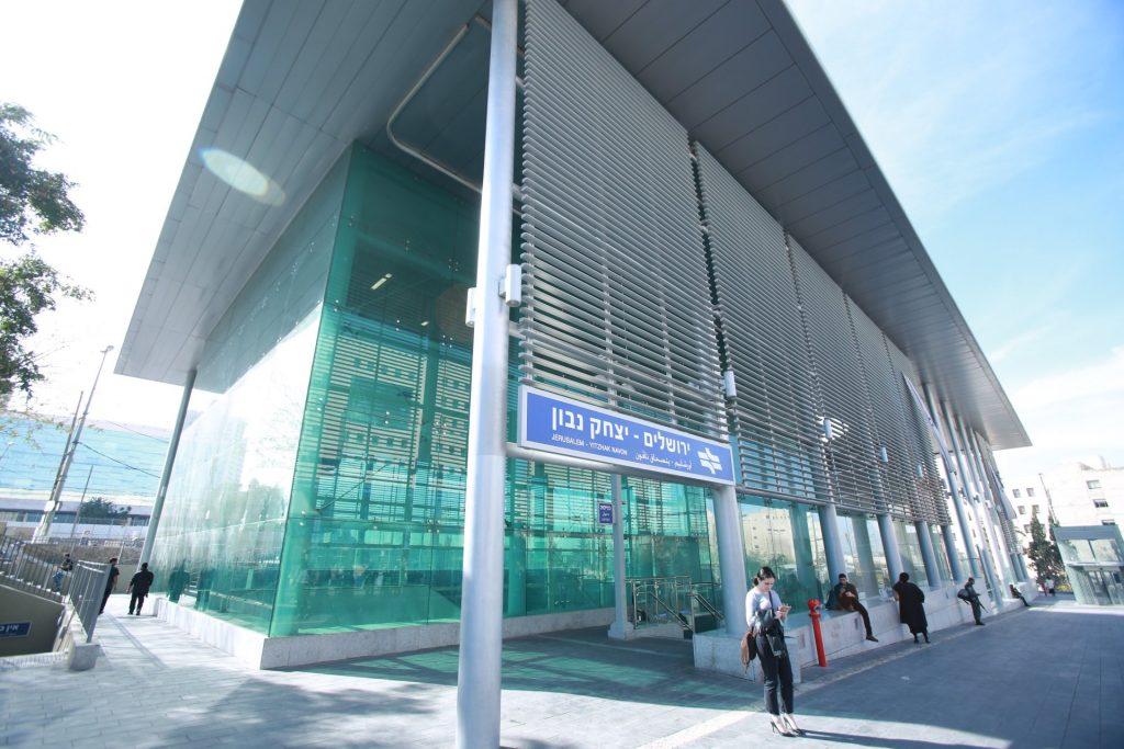 תחנת האומה (נבון) -הקו המהיר מירושלים (צילום: שלומי כהן)
