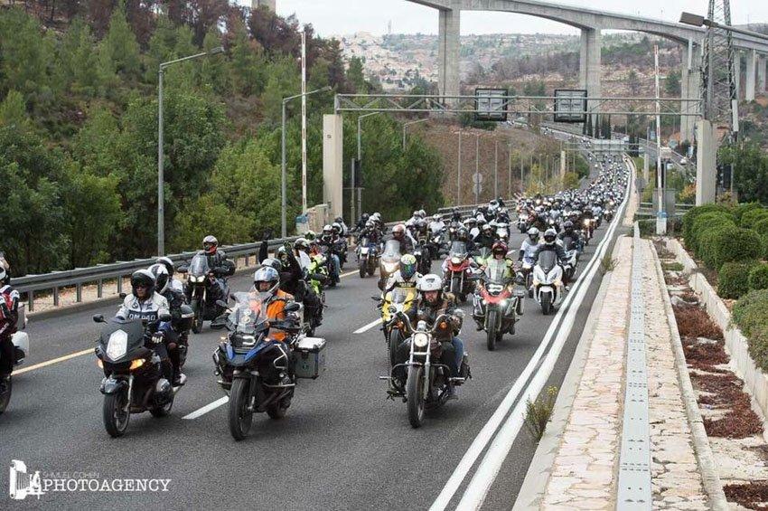 """מסע האופנועים לזכרו של יוסי קירמה ז""""ל (צילום: שמואל כהן)"""