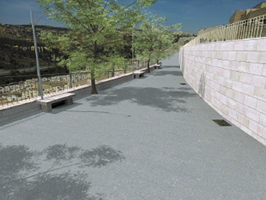 חיפוי קירות באבן טבעית והשלמת מעקות (הדמיה: באדיבות חברת מוריה)