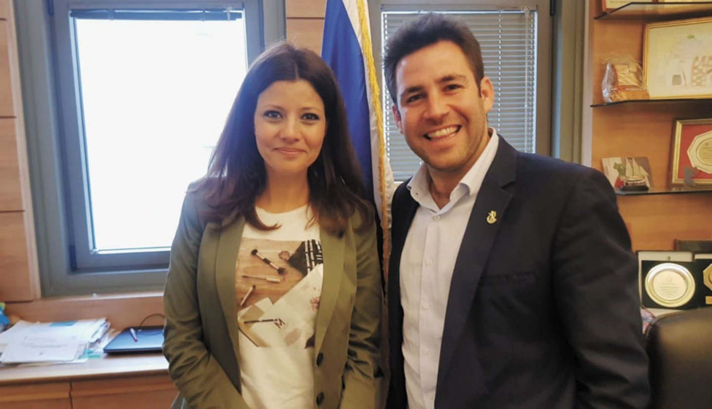 עופר ברקוביץ וחברת הכנסת אורלי לוי-אבקסיס