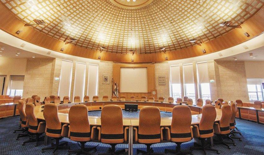 אולם מועצת עיריית ירושלים (צילום: טל הרדה)
