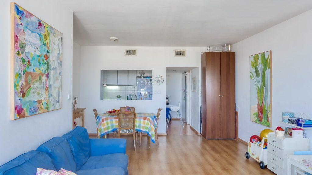 הדירה ברחוב דיסקין, רחביה (צילום: יואל זלצמן)