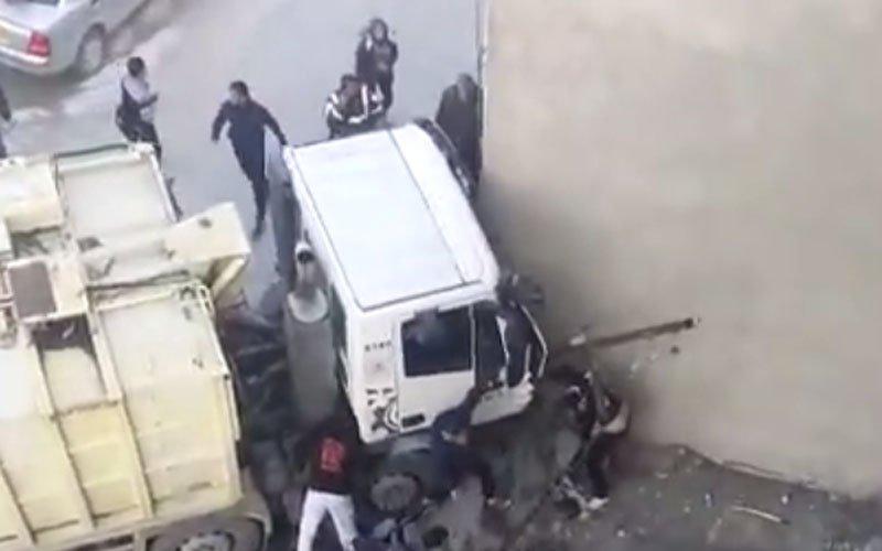 משאית פינוי האשפה שמחצה את הילדה בג'בל מוכאבר