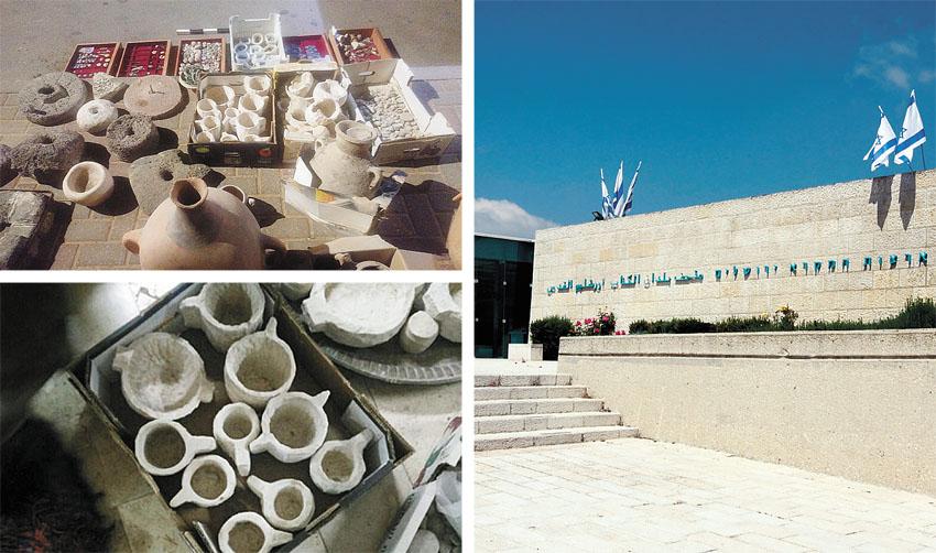 """מוזיאון ארצות המקרא, מתוך תצוגת """"ממצאים אבודים"""" (צילומים: מגד גוזני, דוברות המנהל האזרחי)"""