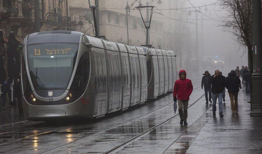 חורף בירושלים, גשם (צילום: אוליבייה פיטוסי)