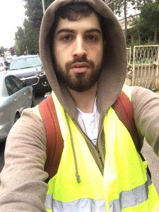 יקי הרץ, ממוביל מחאת האפודים הצהובים בירושלים (צילום: פרטי)
