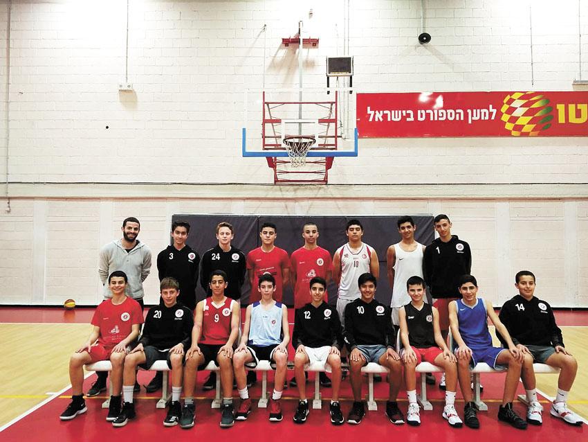 הפועל ירושלים כדורסל ילדים מרכז (צילום: הפועל בנק יהב ירושלים)