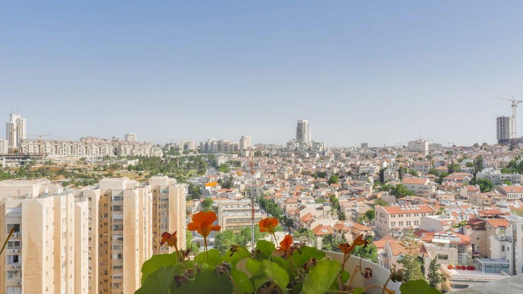 הנוף מהבניין ברחוב דיסקין, רחביה (צילום: יואל זלצמן)