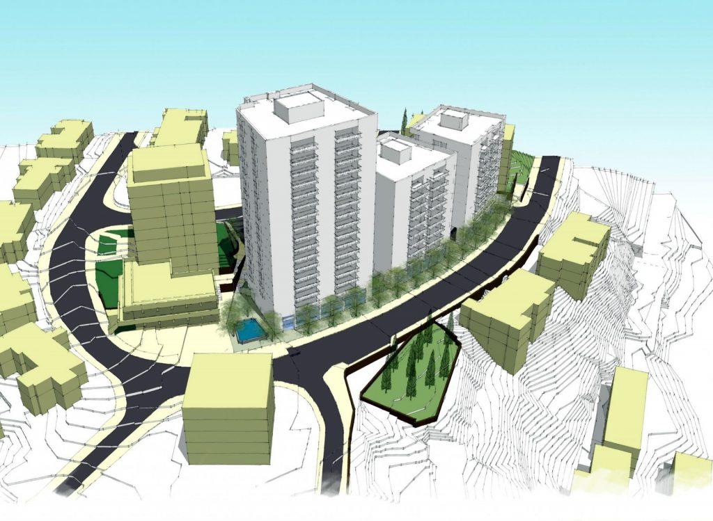 התוכנית ברחוב בוליביה בקרית היובל (הדמיה: אפריקה התחדשות עירונית/משרד ארי כהן אדריכלים)