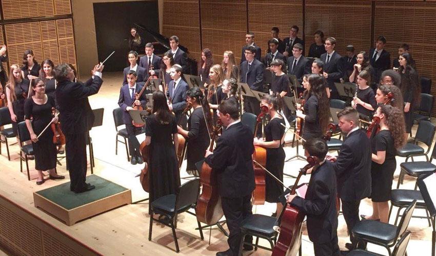 התזמורת הסימפונית הצעירה של מעלה אדומים (צילום: עיריית מעלה אדומים)