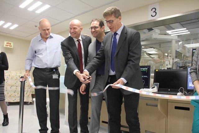 (מימין) פרופ׳ חיים לוטן, אבירם סושרד, ברט ואן מירס ופרופ׳ חיים דננברג (צילום: דוברות הדסה)