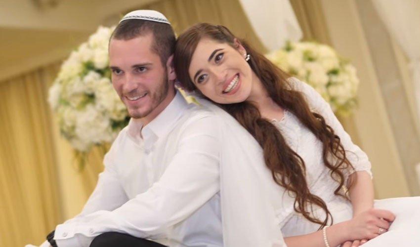 שירה ועמיחי איש-רן (צילום: מתוך סרטון החתונה ביוטיוב)