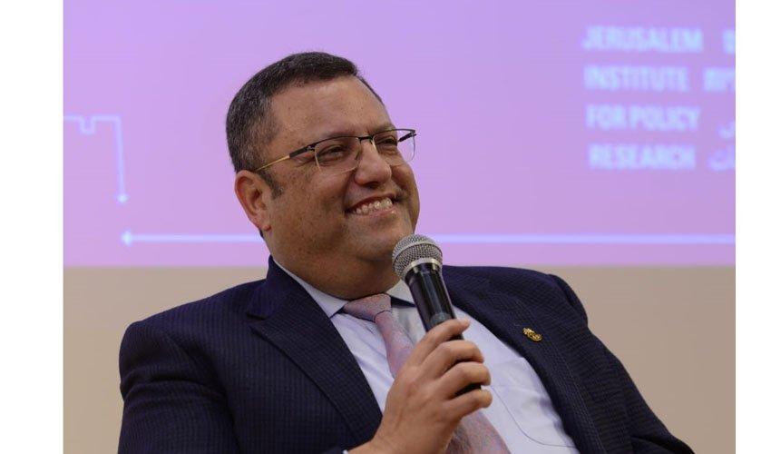 משה ליאון בכנס :40 שנה למכון ירושלים לחקר מדיניות (צילום: דניאל שטרית)