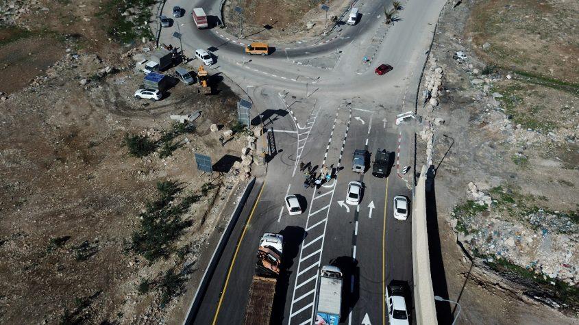 כביש הטבעת המזרחי, עוקף פסגת זאב (צילום: צוות תוכנית אב לתחבורה ירושלים)