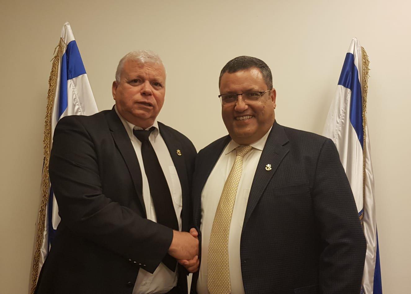 ראש העיר משה ליאון וסגן ראש העיר אלישע פלג (צילום: דוברות ראש העיר)
