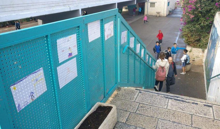 גרם המדרגות שמוביל לגן סאלד (צילום: פרטי)